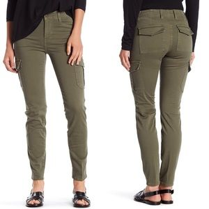 Vince Skinny Cargo Pants Distress Army Green